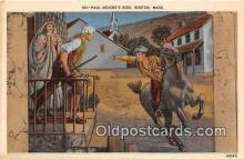 pat100250 - Paul Revere's Ride Boston, Massachusetts USA Postcard Post Card
