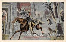pat100256 - Paul Revere Lexington April 19, 1775 Postcard Post Card