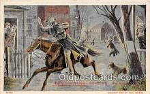 pat100257 - Paul Revere Lexington April 19, 1775 Postcard Post Card