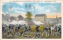 pat100259 - Battle of Lexington, April 19, 1775 Lexington, Mass Postcard Post Card