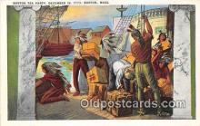 pat100262 - Boston Tea Party, December 16, 1773 Boston, Massachusetts USA Postcard Post Card