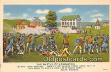 pat100263 - Battle of Lexington Capt Parker Postcard Post Card