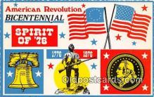 pat100268 - American Revolution Bicentennial Spirit of 76, 1776-1976 Postcard Post Card