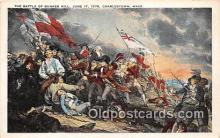 pat100269 - Battle of Bunker Hill, June 17, 1775 Charlestown, Mass USA Postcard Post Card