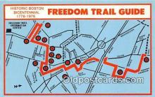 pat100274 - Freedom Trail Guide, Bicentennial 1776-1976  Postcard Post Card