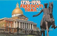pat100275 - Freedom Trail, 1776-1976  Postcard Post Card