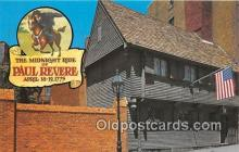 pat100279 - Midnight Ride Paul Revere, April 18-19, 1775 Postcard Post Card