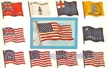 pat100281 - Famous Flags of America  Postcard Post Card