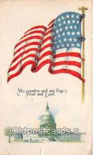 pat100301 - My Country & My Flag  Postcard Post Card