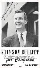 pat100314 - Stimson Bullitt, non postcard backing Congress, Democrat Postcard Post Card