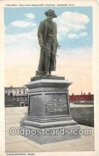 pat100340 - Colonel William Prescott Statue, Bunker Hill Charlestown, Mass Postcard Post Card