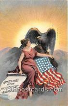 pat100342 - Greetings from Picturesque America  Postcard Post Card