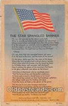 pat100352 - Star Spangled Banner  Postcard Post Card