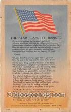 pat100352 - Star Spangled Banner  Postcard Post Card