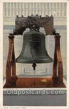 pat100354 - Old Liberty Bell  Postcard Post Card