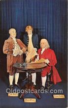 pat100362 - Benjamin Franklin, London Wax Museum Petersburg Beach, Florida Postcard Post Card