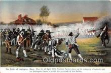pat100384 - Battle of Lexington, April 19, 1775 Lexington, Mass Postcard Post Card