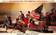 pat100385 - American Bicentennial 1776-1976 Washington Crossing the Delaware Postcard Post Card