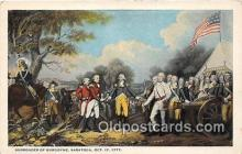 pat100389 - Surrender of Burgoyne Saratoga, Oct 17, 1777 Postcard Post Card