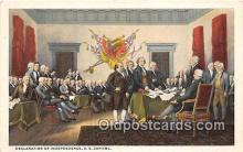 pat100395 - Declaration of Independence US Capitol Postcard Post Card