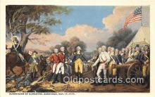 pat100405 - Surrender of Burgoyne Saratoga, Oct 17, 1777 Patriotic Postcard Post Card