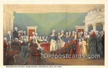 pat100406 - Resignation of Gen Washington Annapolis, Dec 23, 1783 Patriotic Postcard Post Card