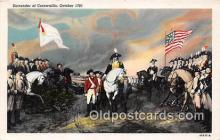 pat100410 - Surrender of Cornwallis October 1781 Patriotic Postcard Post Card
