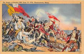 pat100412 - Battle of Bunker Hill, June 17, 1775 Charlestown, Mass Patriotic Postcard Post Card