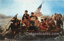 pat100417 - Washington Crossing the Delaware  Patriotic Postcard Post Card