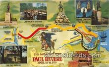 pat100418 - Midnight Ride Paul Revere, April 18-19, 1775 Patriotic Postcard Post Card