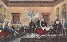pat100449 - Signing of the Declaration of Independence, July 4, 1776 By John Trumbull Patriotic Postcard Post Card