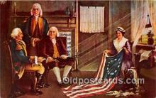 pat100451 - Birth of Our Nation's Flag Painting by Chas H Weisgerber Patriotic Postcard Post Card