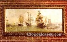 pat100453 - Battle of Plattsburgh JO Davidson Oil Painting Patriotic Postcard Post Card
