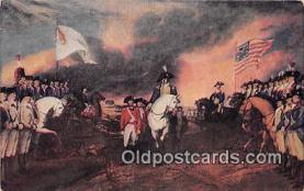 pat100454 - Surrender of Cornwallis Yorktown, Oct 19, 1781 Painting by John Trumbull Patriotic Postcard Post Card