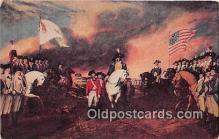 pat100458 - Surrender of Cornwallis Yorktown, Oct 19, 1781 Painting by John Trumbull Patriotic Postcard Post Card