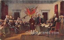 pat100462 - Declaration of Independence Philadelphia, July 4, 1776 Patriotic Postcard Post Card