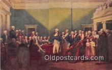 pat100463 - Resignation of Gen Washington Annapolis, Dec 23, 1783 Patriotic Postcard Post Card