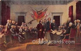 pat100464 - Declaration of Independence Philadelphia, July 4, 1776 Patriotic Postcard Post Card
