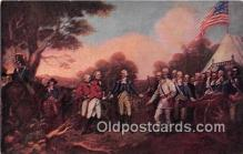 pat100465 - Surrender of Burgoyne Saratoga, Oct 17, 1777 Patriotic Postcard Post Card