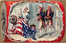 pat100466 - Betsy Ross, First American Flag, 1776  Patriotic Postcard Post Card