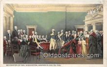pat100467 - Resignation of Gen Washington Annapolis, Dec 23, 1783 Patriotic Postcard Post Card