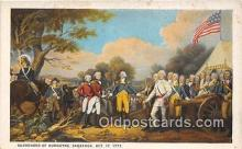 pat100469 - Surrender of Burgoyne Saratoga, Oct 17, 1777 Patriotic Postcard Post Card