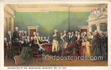 pat100470 - Resignation of Gen Washington Annapolis, Dec 23, 1783 Patriotic Postcard Post Card