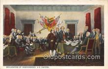 pat100471 - Declaration of Independence US Capitol Patriotic Postcard Post Card