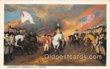 pat100472 - Surrender of Cornwallis US Capitol Patriotic Postcard Post Card