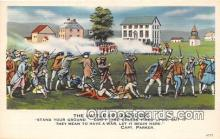 pat100475 - Battle of Lexington Capt Parker Patriotic Postcard Post Card