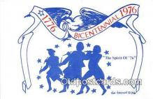 pat100480 - Bicentennial 1776-1976 Spirit of 76, 1776-1976 Patriotic Postcard Post Card