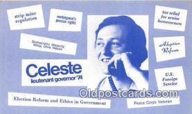 pat100485 - Celeste Lieutenant Governor 74  Patriotic Postcard Post Card