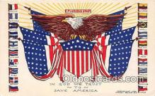 pat100486 - In God We Trust  Patriotic Postcard Post Card