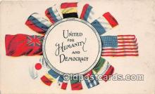 pat100487 - United for Humanity & Democracy  Patriotic Postcard Post Card
